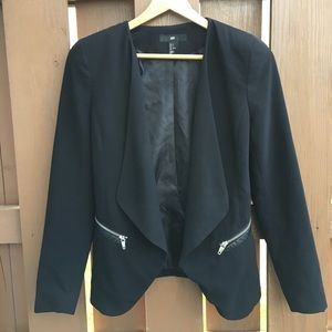 H&M waterfall jacket with zippers